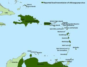 CHIK-Caribbean-Map-072914