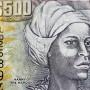 Nanny, Leader Marron représentée sur le billet de 500 Dollars jamaicain.