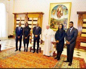 Le Pape & President Jovenel Moise.,  Photo Le Nouvelliste Haiti